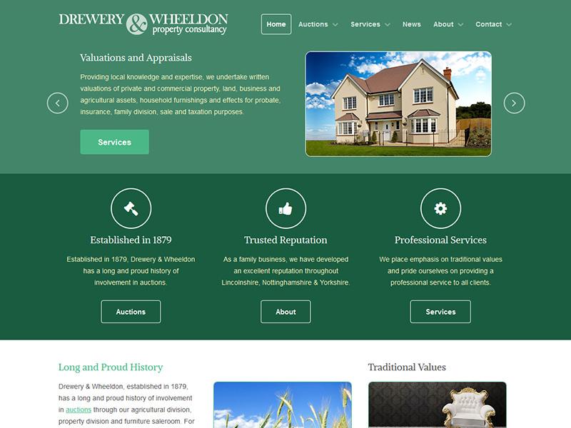 Home Web Design. Drewery and Wheeldon Web Design Studios  SEO Website Content Management